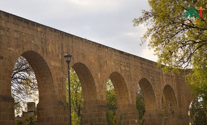 Aquaduct In Morelia Mexico