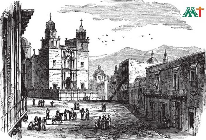 Cathedral At Guanajuato Vintage Painting