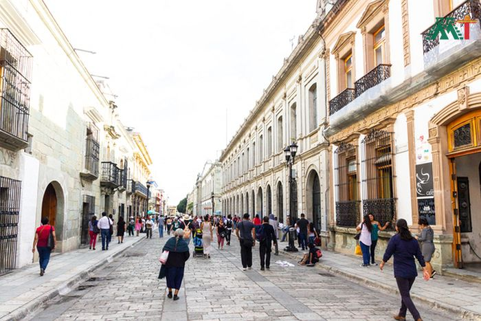 Downtown Oaxaca Mexico Streets