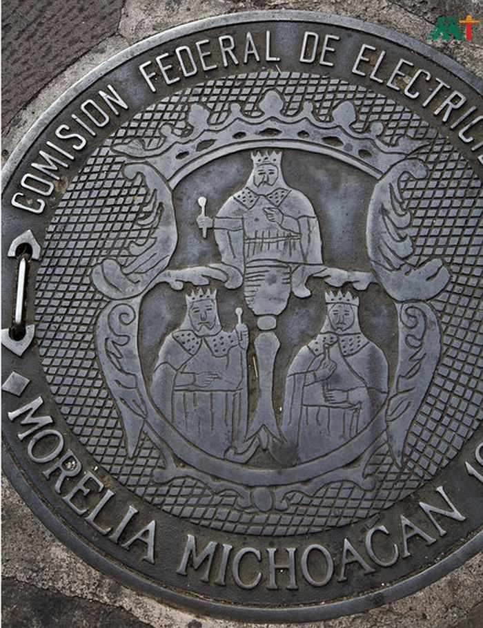 Government Seal Of Three Kings In Morelia Mexico