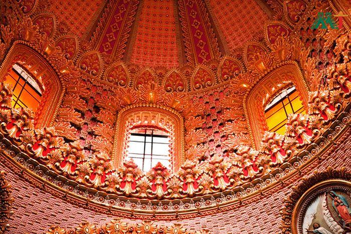Guadalupita Church Dome In Morelia Mexico