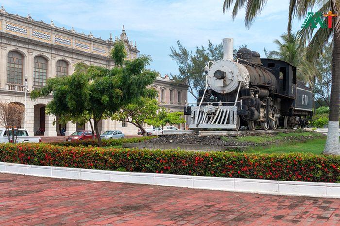 Historic Train Station In Veracruz Mexico