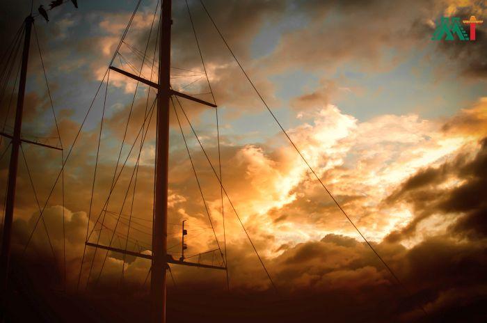 La Paz boat sunset