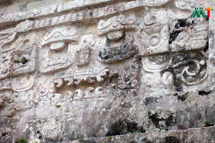 Mayan Ruins At Merida Mexico